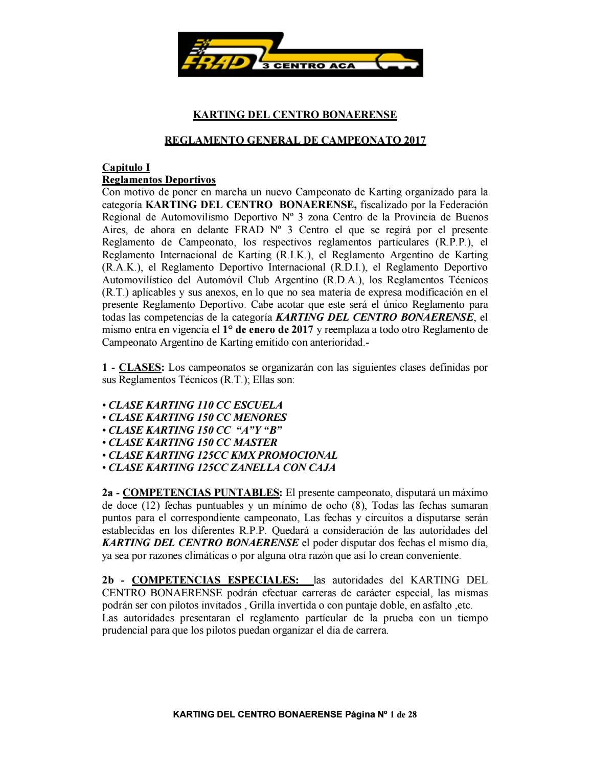 Reglamento deportivo 2017 - KDC by Marta Hetem - issuu