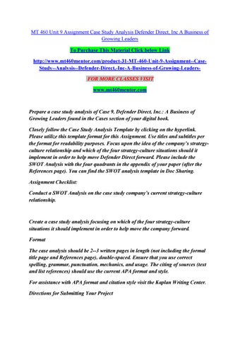 case study analysis format apa
