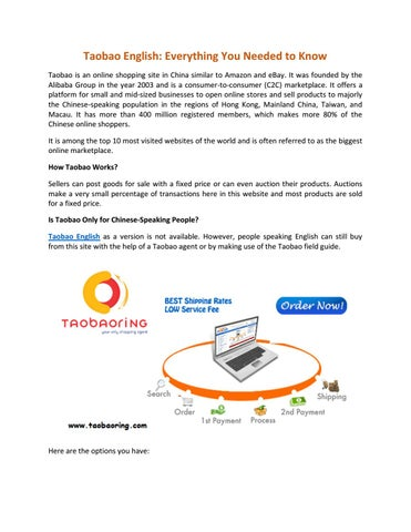 Taobao English And Paypal Help For Shopping By Taobaoring Issuu