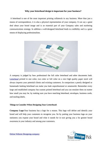 why your letterhead design is important for your business by