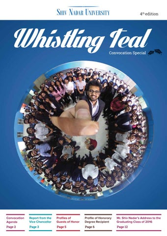 Whistling Teal Edition 4 | Shiv Nadar University Newsletter by Shiv