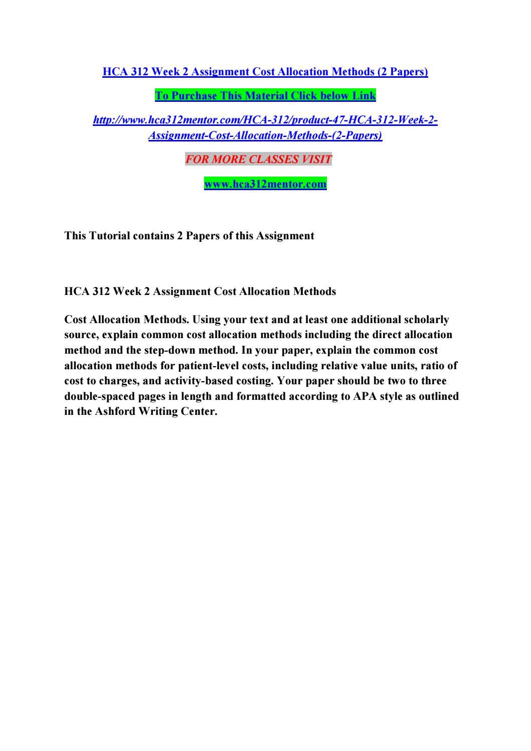 Cost behavior and allocation essay