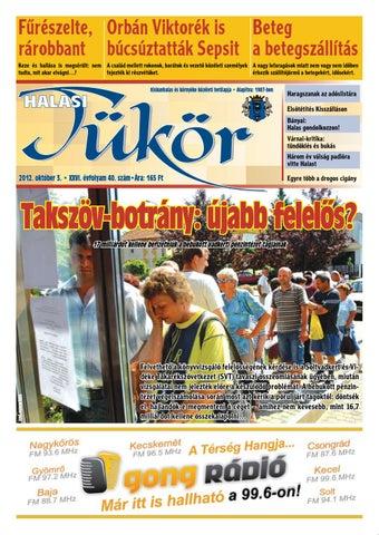 XXVI. évf. 40. szám 2012. október 3. by Halasi Tükör - issuu 2e2602b5f4