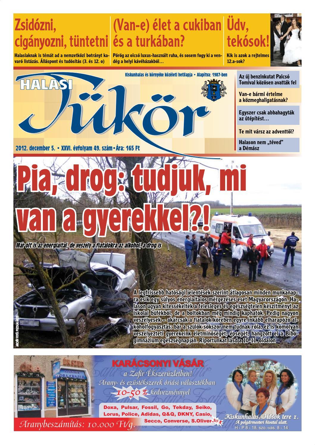 XXVI. évf. 49. szám 2012. december 5. by Halasi Tükör - issuu 369f38036e
