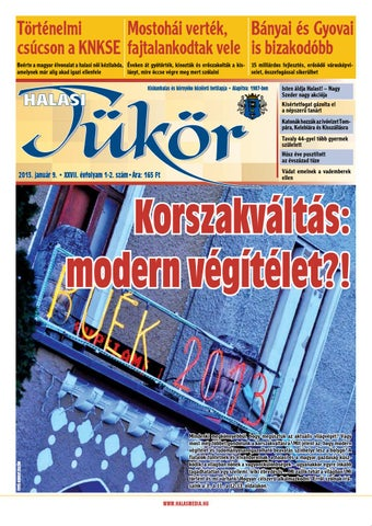 XXVII. évf. 1-2. szám 2013. január 9. by Halasi Tükör - issuu 421e39add2