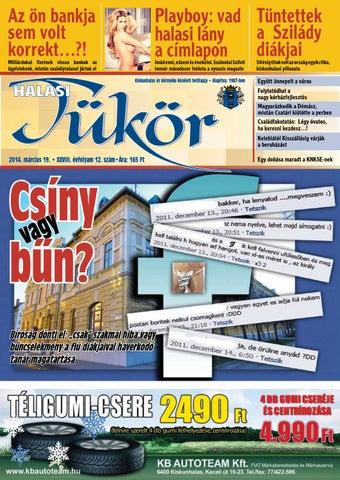 XXVIII. évf. 12. szám 2014. március 19. by Halasi Tükör - issuu 4ab9df43ed