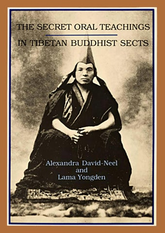 The secret oral teachings in tibetan buddhist sects pdf by