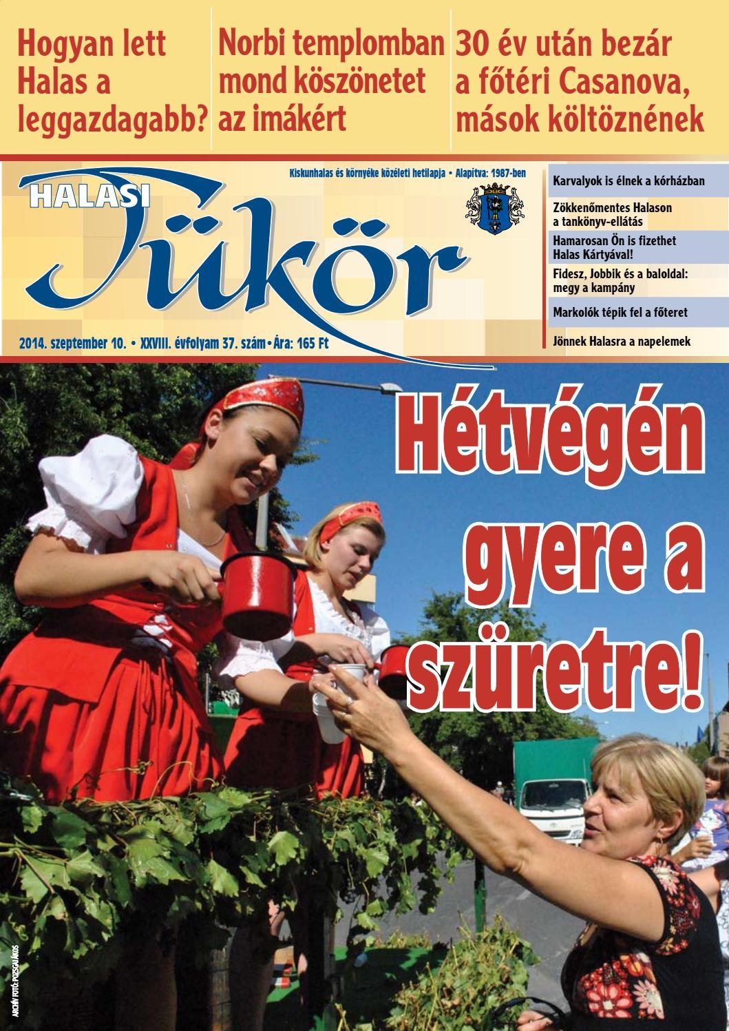 1f55f7641f XXVIII. évf. 37. szám 2014. szeptember 10. by Halasi Tükör - issuu