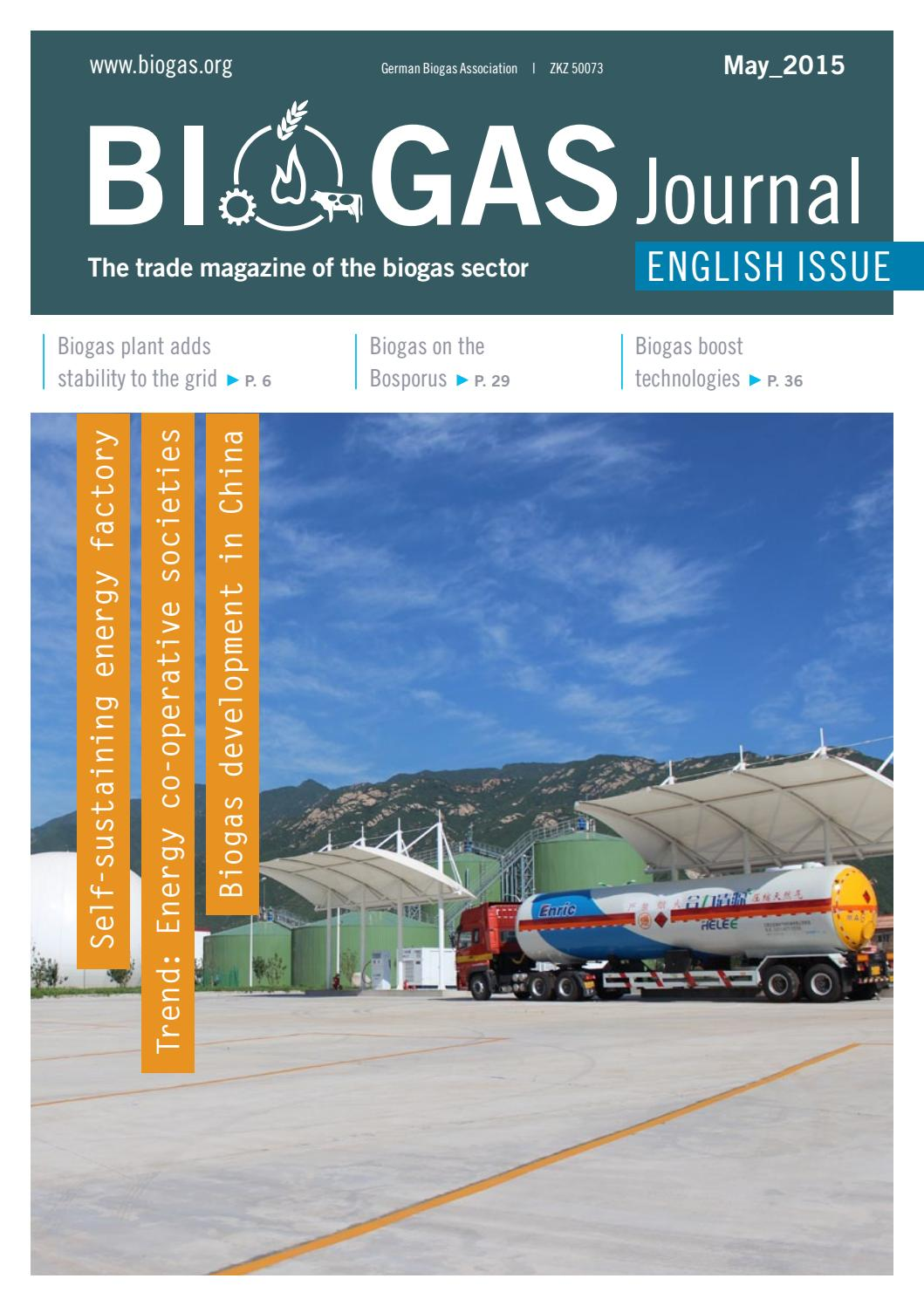 Biogas Journal English Issue May 2015 by Fachverband Biogas e V  - issuu