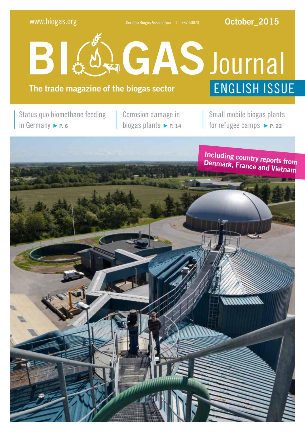 Biogas Journal English Issue October 2015 by Fachverband Biogas e V