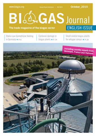 Elektro Hörbelt biogas journal issue october 2015 by fachverband biogas e v