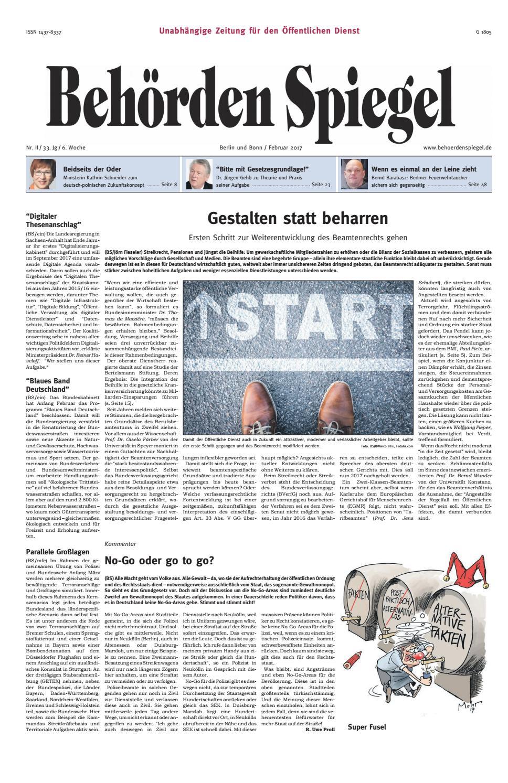 Behörden Spiegel Februar 2017 by propress - issuu