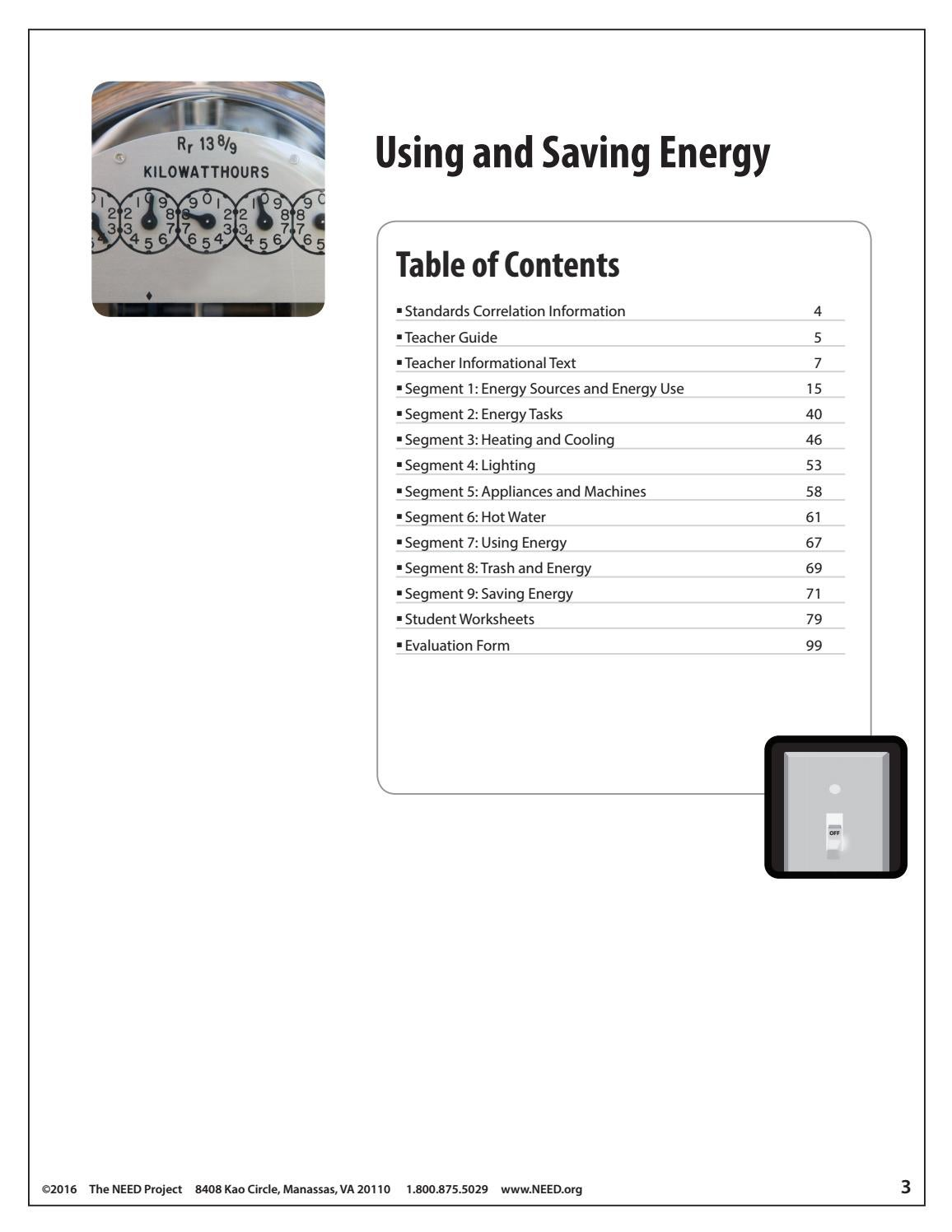 Using and Saving Energy by NEED Project - issuu