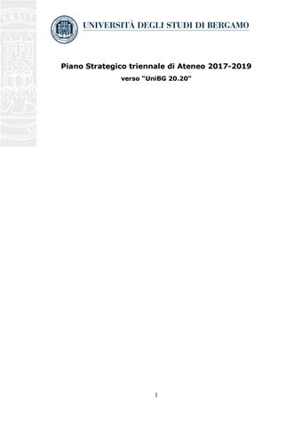 Unibg Calendario Esami Economia.Piano Strategico Ateneo 2017 2019 By Bergamonews Issuu