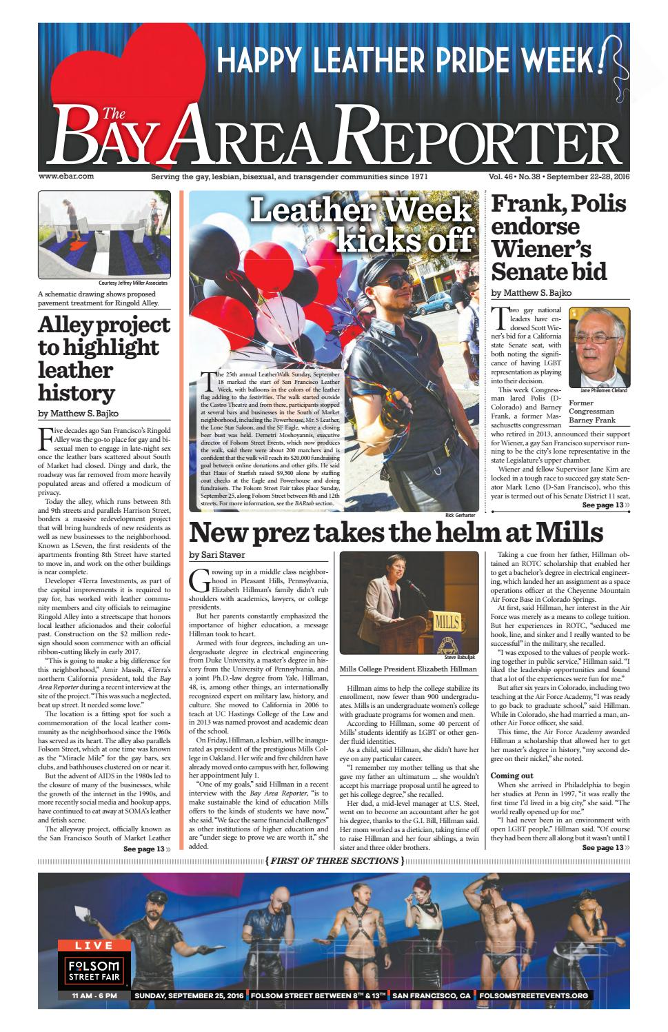 Bay Area Reporter : September edition of the bay area reporter by