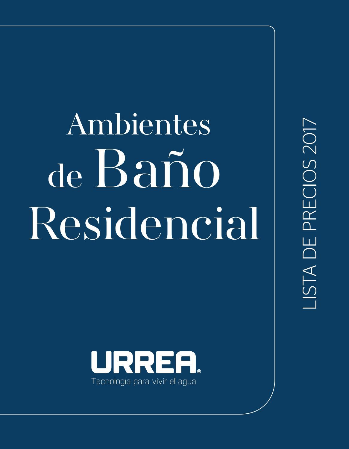 Lista de precios urrea 2017 by urrea m xico issuu for Muebles para bano urrea