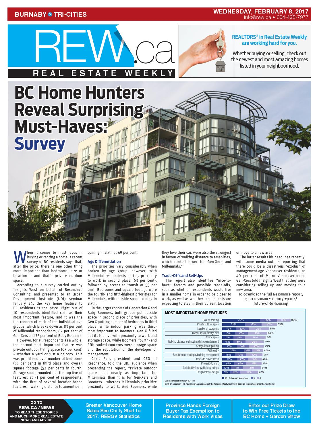 BURNABY / TRI CITIES Feb 8, 2017 Real Estate Weekly By Real Estate Weekly    Issuu