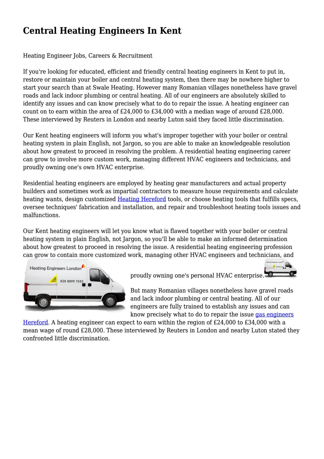 Central Heating Engineers In Kent... by zealouschief9119 - issuu