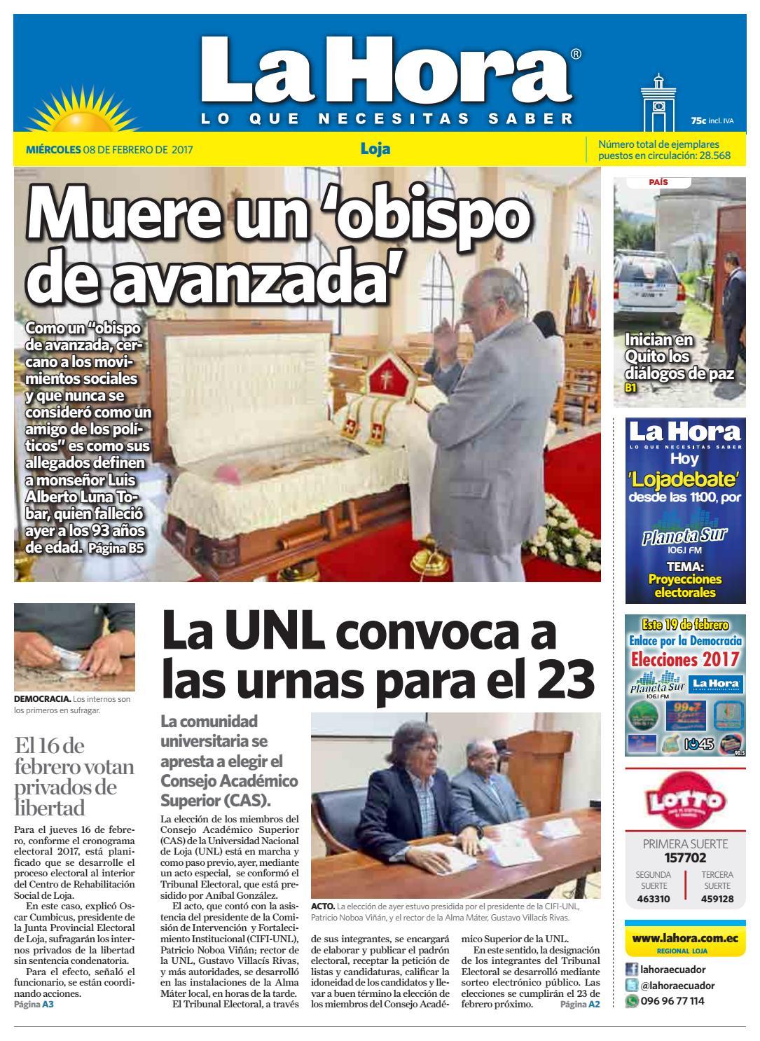 Diario La Hora Loja 08 De Febrero 2017 By Diario La Hora Ecuador  # Muebles Paquita Santa Cruz De La Zarza