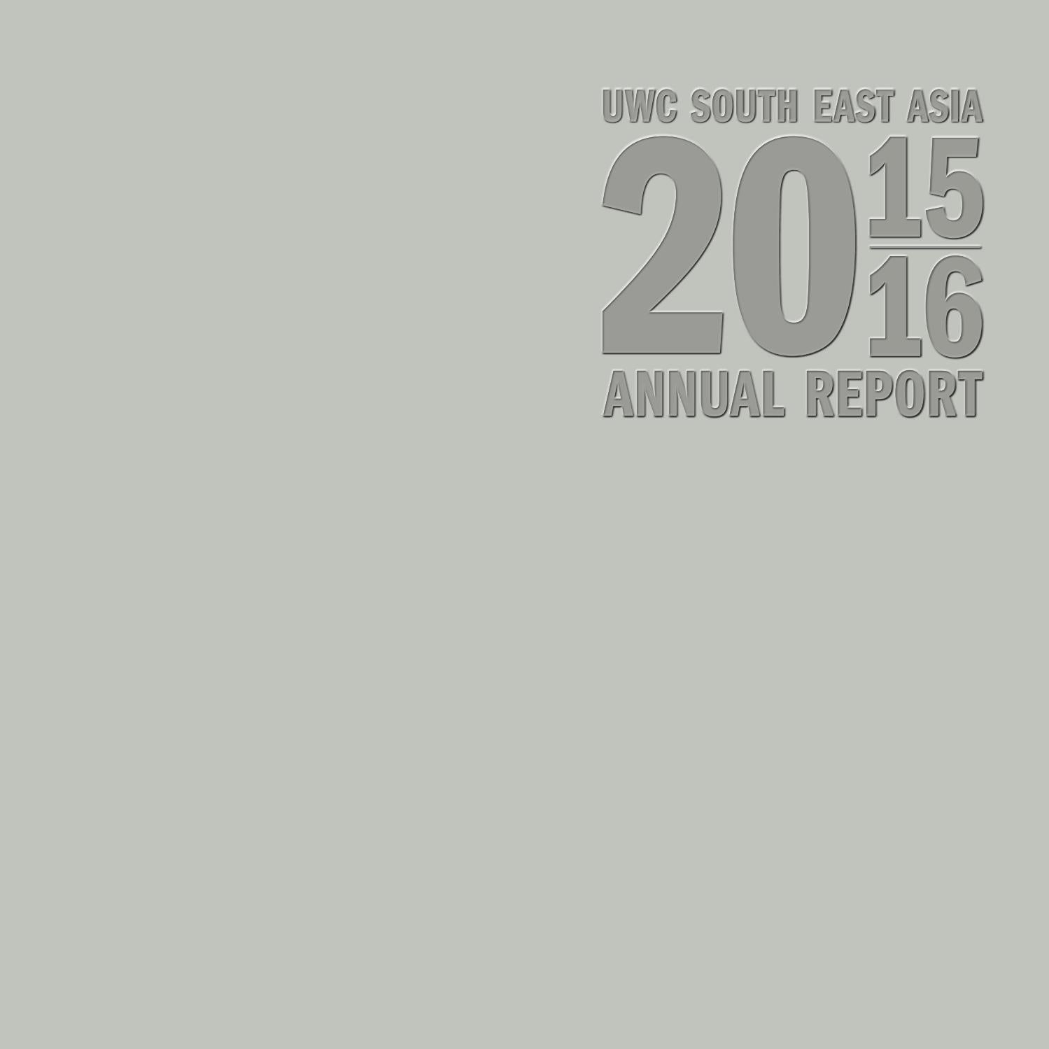 Uwcsea 2015 2016 Annual Report By Issuu Manzone Statement Pants Grey Abu 31