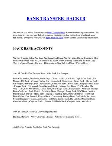 Bank transfer hacker by MTCN HACKER - issuu