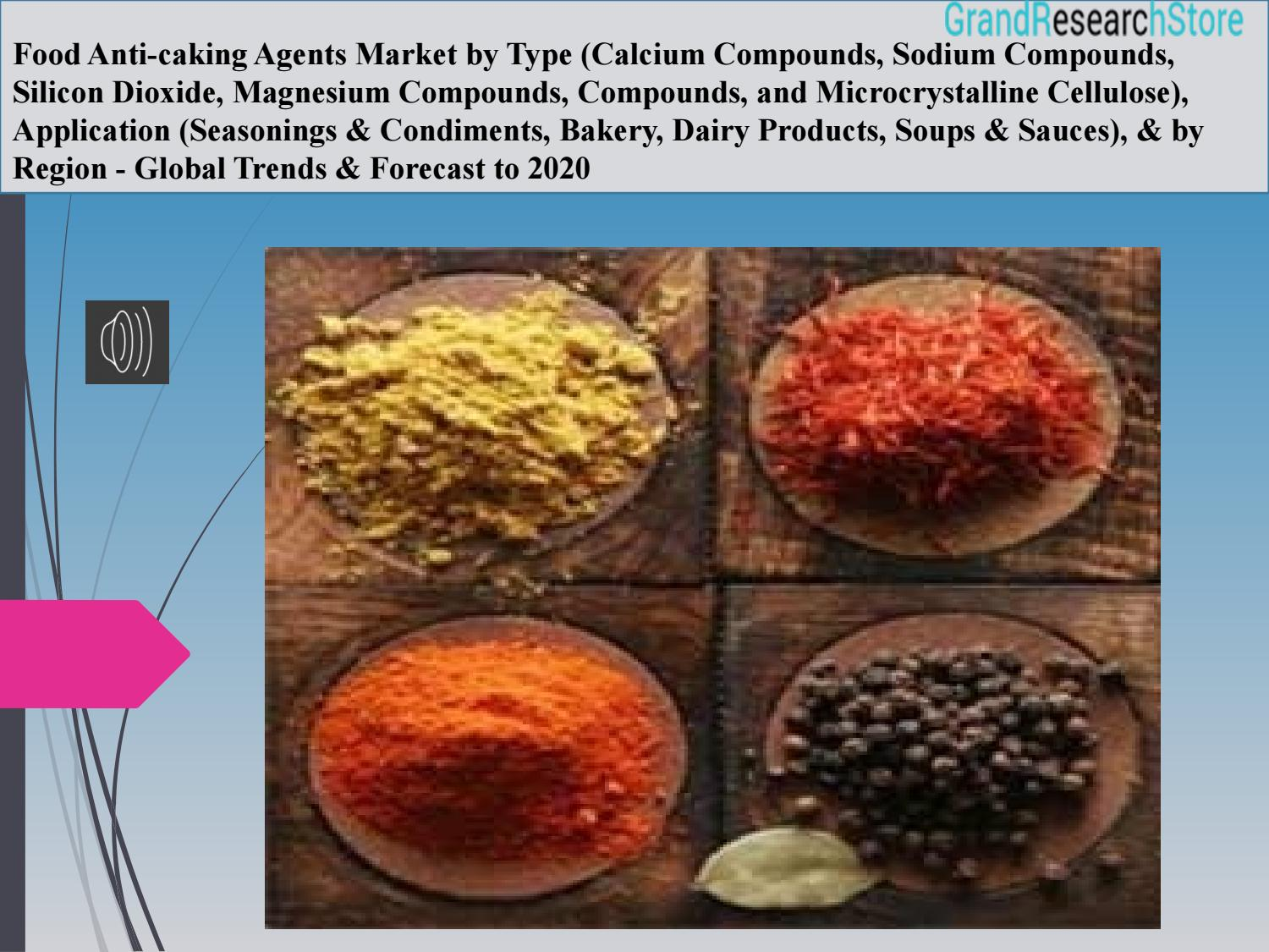 Food anti caking agents market - Global Trends & Forecast to