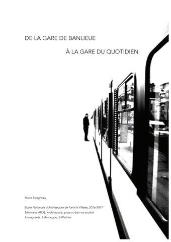 0623db70e7a24 De la gare de banlieue à la gare du quotidien by Marieepagneau - issuu