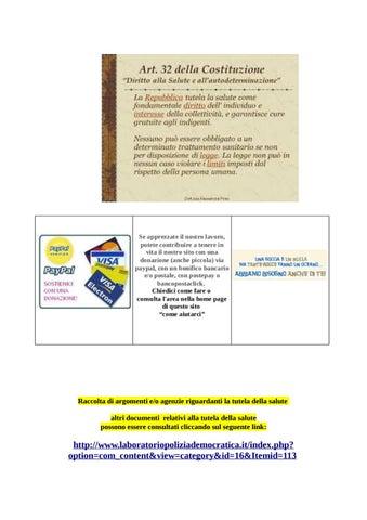Raccolta di argomenti e o agenzie riguardanti la tutela della salute ... 4a0d50b66e