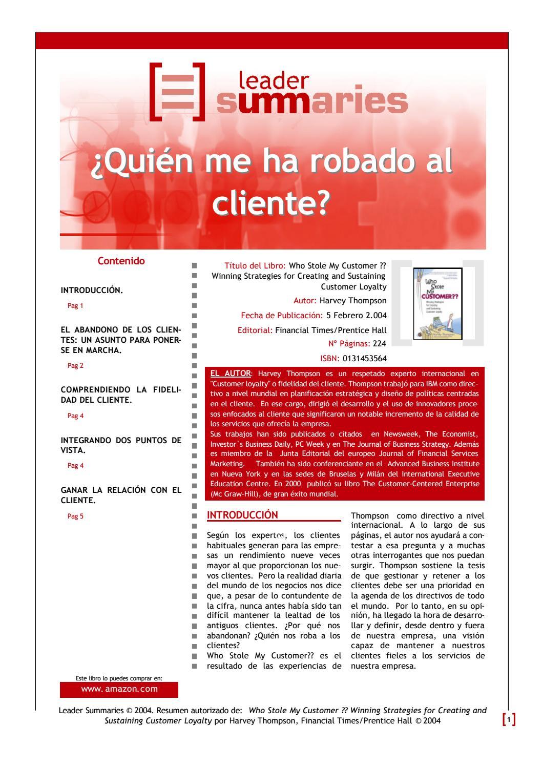 Quien me ha robado al cliente by Pavco Perú - issuu