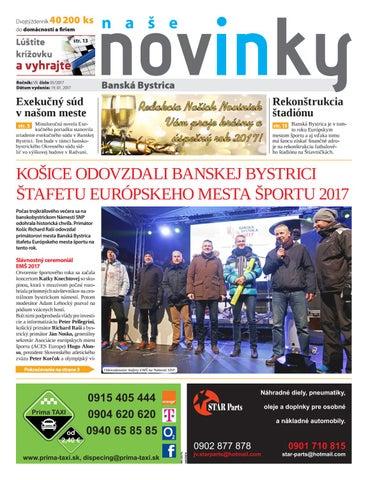 cc68c04814 Naše Novinky Banská Bystrica 01 2017 by PRONTE media - issuu