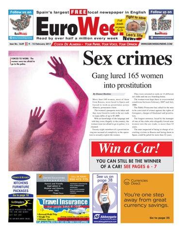 2589e74f6f6a0 Euro Weekly News - Costa de Almeria 9 - 15 February 2017 Issue 1649 ...