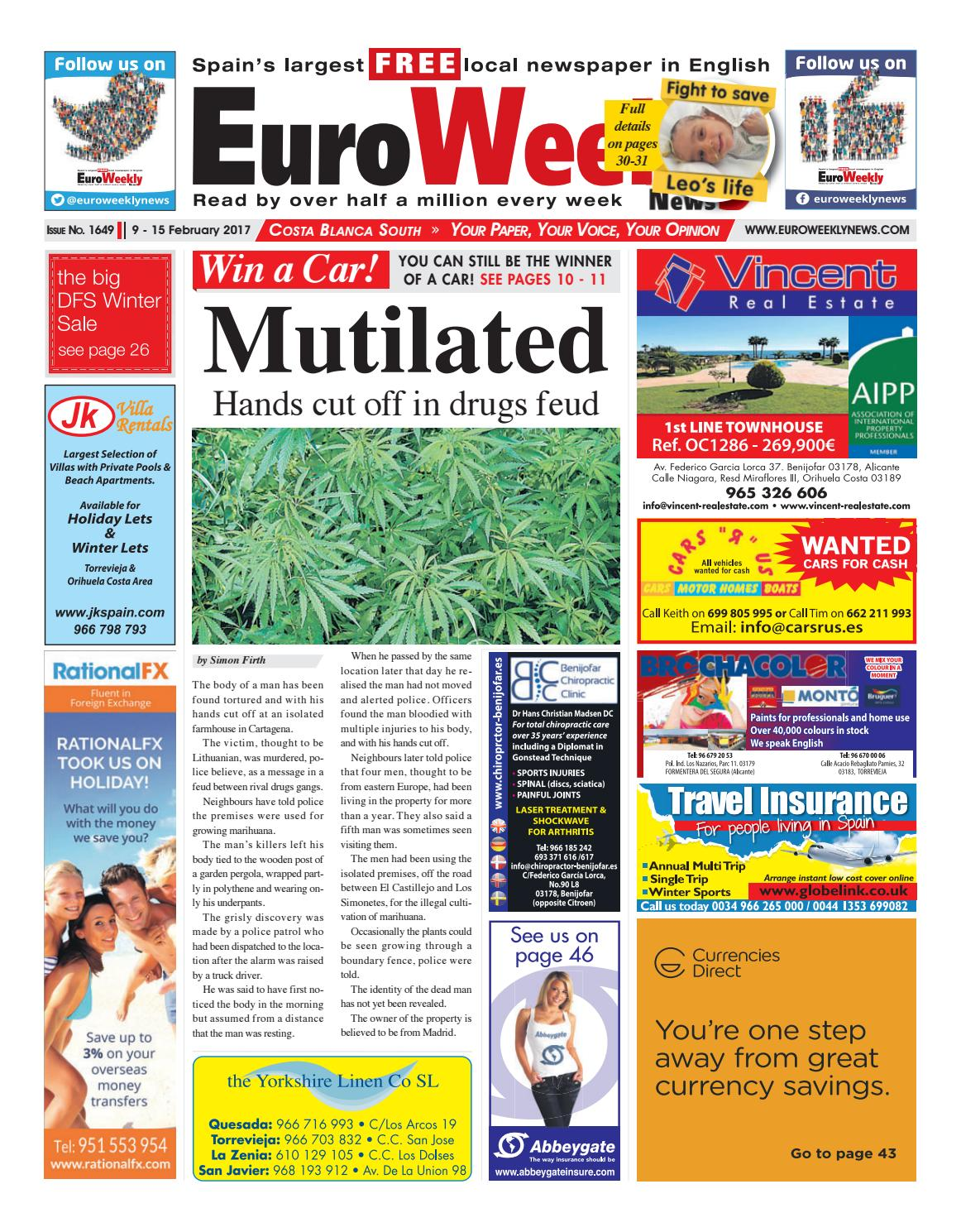huge discount d9f69 6316e Euro Weekly News - Costa Blanca South 9 - 15 February 2017 Issue 1649