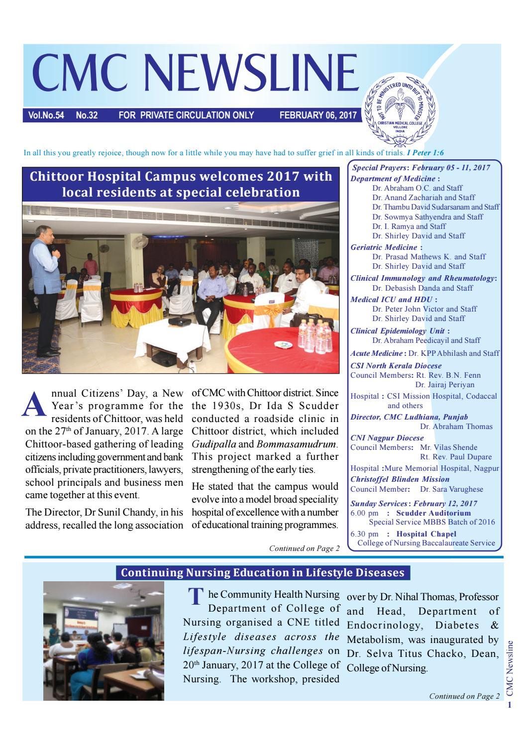 Cmc newsline 7 february 2017 vol no 54 no 32 by vellore cmc cmc newsline 7 february 2017 vol no 54 no 32 by vellore cmc foundation issuu aiddatafo Choice Image