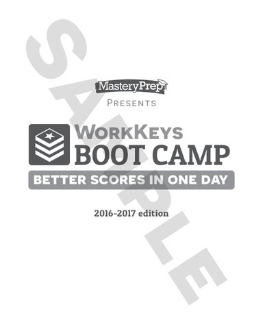 Sample workkeys boot camp 2016 17 by masteryprep issuu page 1 presents workkeys fandeluxe Choice Image