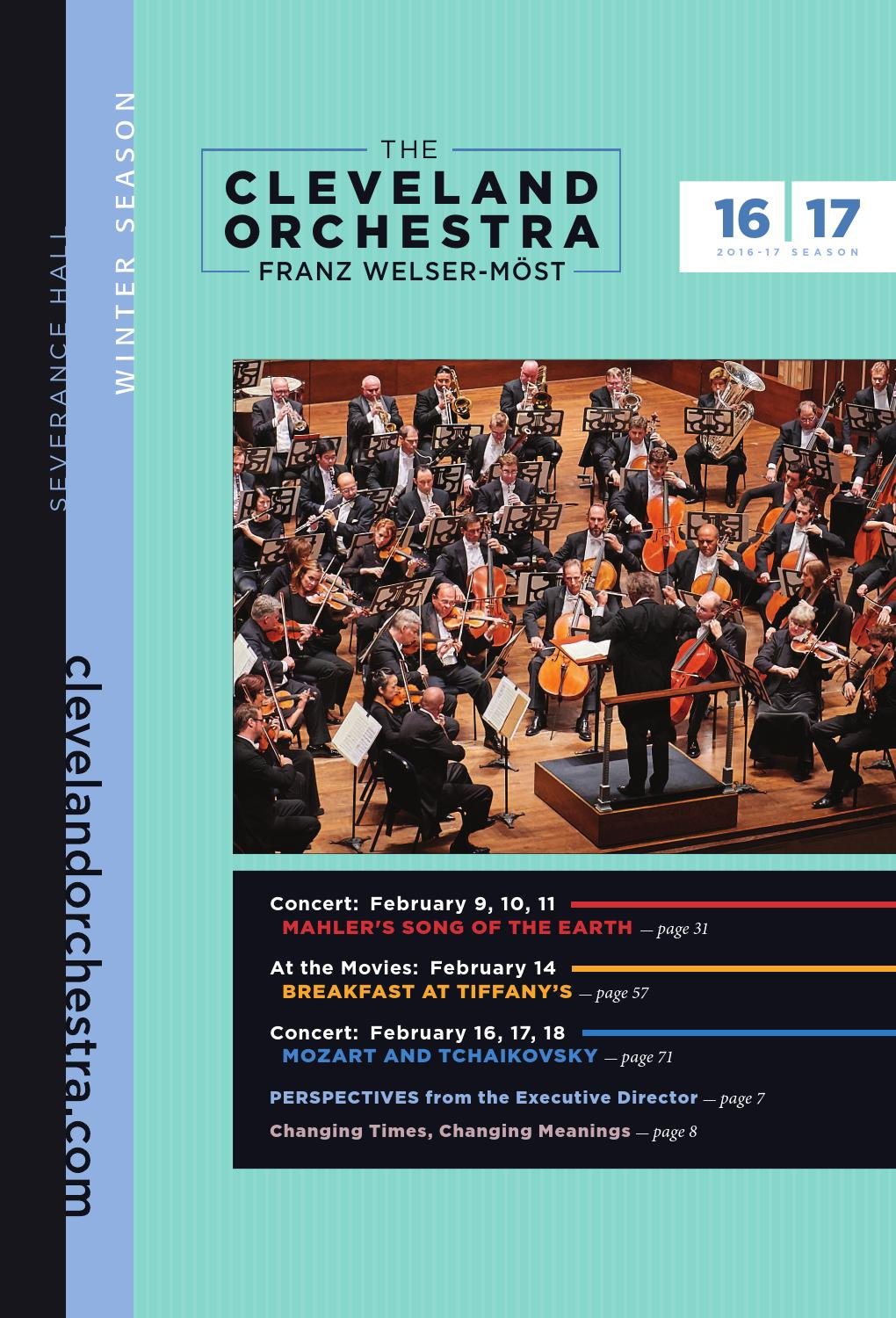 The Cleveland Orchestra February 9 11 14 16 18 Concerts By Live
