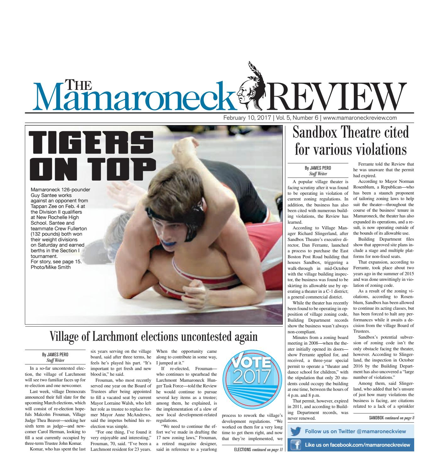 February 10, 2017 by The Mamaroneck Review - issuu