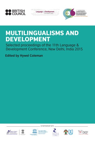Multilingualisms and development by British Council India