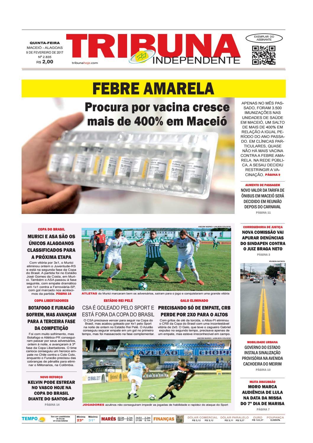 Edição número 2835 - 9 de fevereiro de 2017 by Tribuna Hoje - issuu 3562397b34