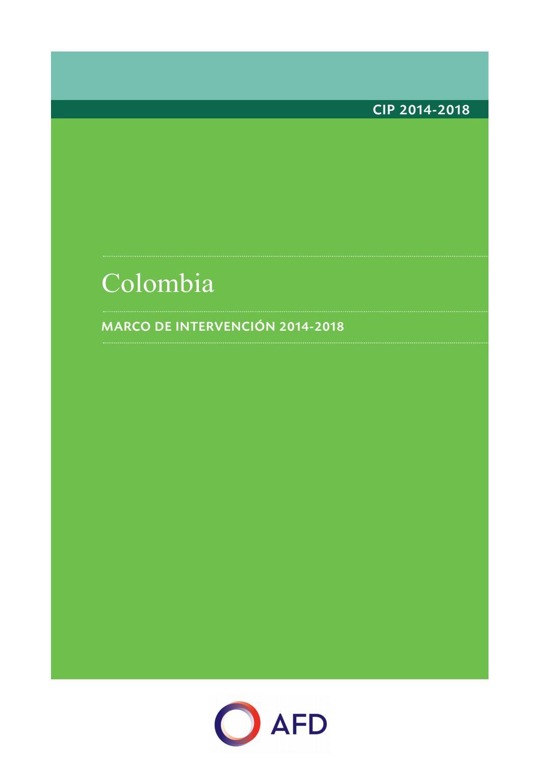 Cadre d\'intervention pays Colombie VEsp by Agence Française de ...