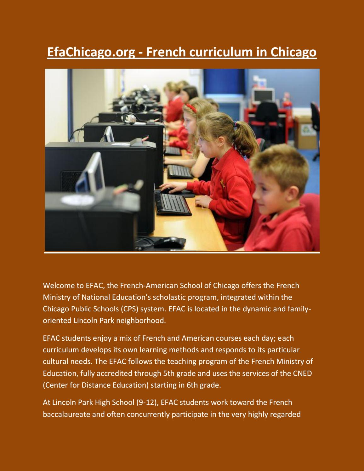 French Curriculum In Chicago By Efachicago Issuu