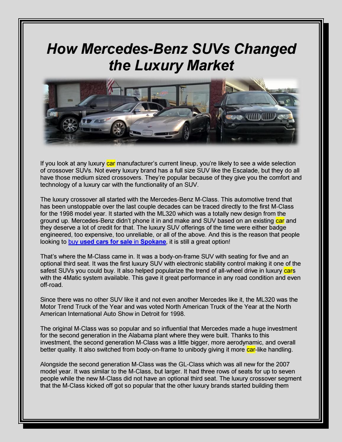 How Mercedes-Benz SUVs Changed the Luxury Market by Car Emporium - issuu