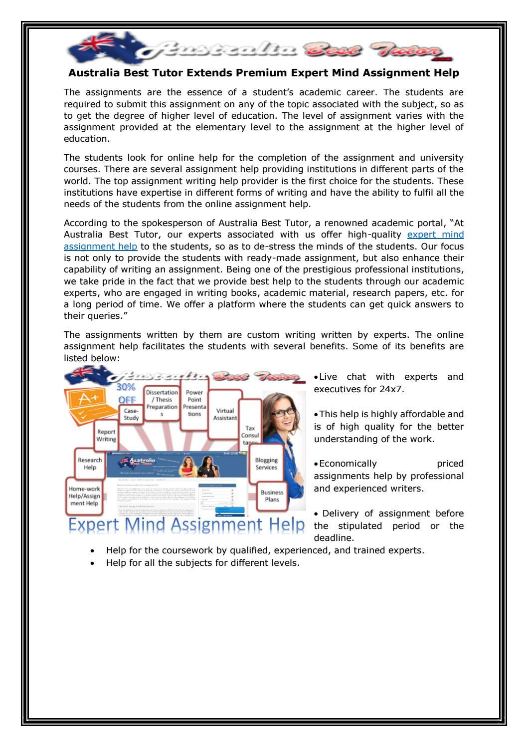 Online assignment help australia