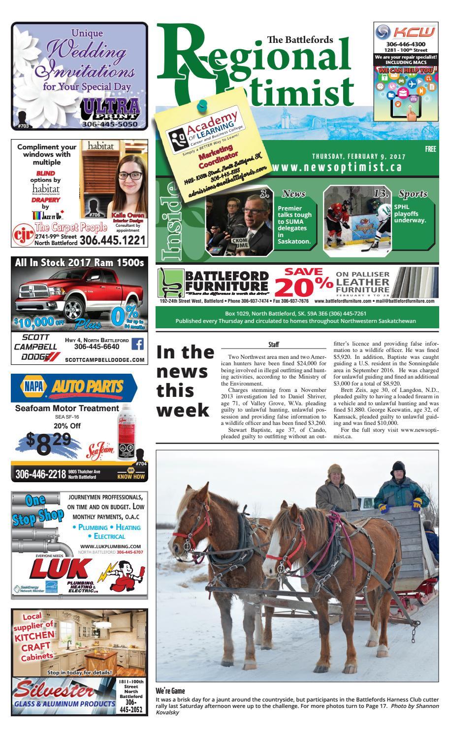 Regional Optimist February 9 by Battlefords News Optimist