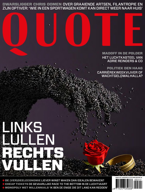 Afbeeldingsresultaat voor quote magazine nederland cover