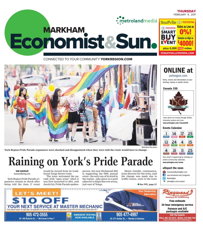 Markham Economist & Sun, February 09, 2017 by Markham Economist ...