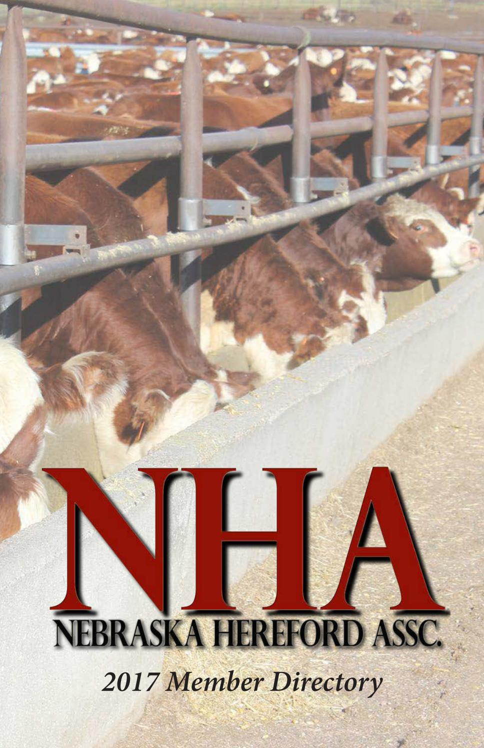 Nebraska adams county ayr 68925 - Nebraska Hereford Association 2017 Membership Directory By Livestockdirect Issuu