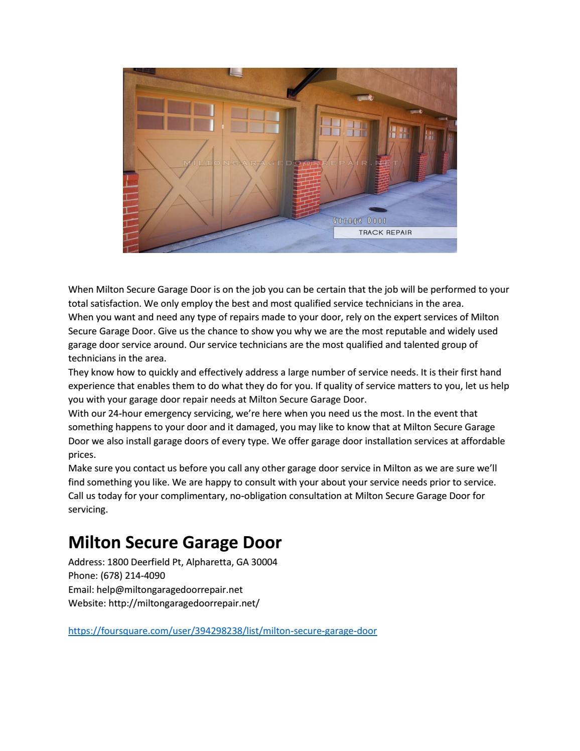 Milton Secure Garage Door By Milton Secure Garage Door Issuu