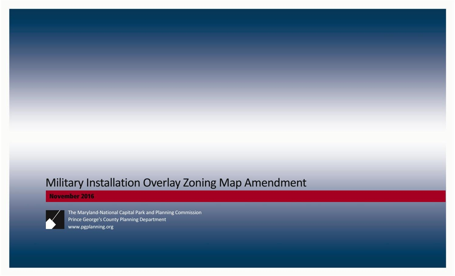 premium selection 85523 438b2 2016 Approved Military Installation Overlay Zoning Map Amendment by  Maryland-National Capital Park   Planning Commission - issuu