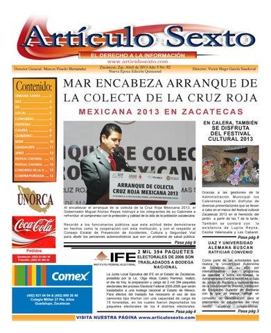 Periódico Articulo Sexto Abril 2013 By Carlos Lopez Issuu