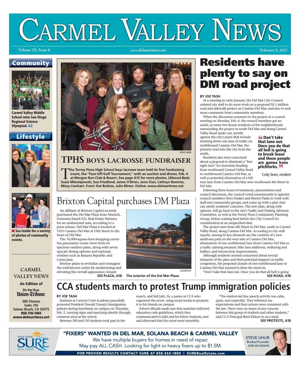 Carmel valley news 02 09 17 by mainstreet media issuu fandeluxe Gallery